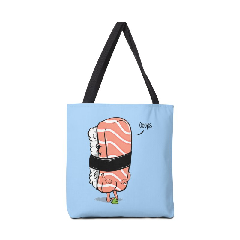 Sushi Poops Wasabi Accessories Bag by GED WORKS