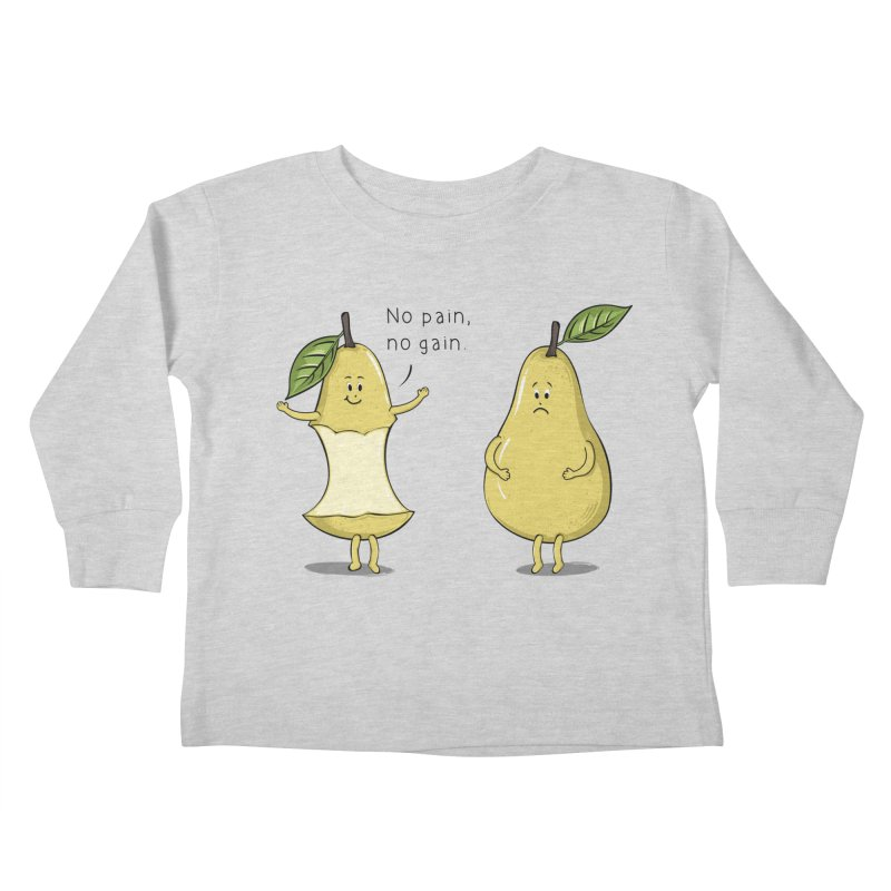No Pain No Gain Kids Toddler Longsleeve T-Shirt by GED WORKS
