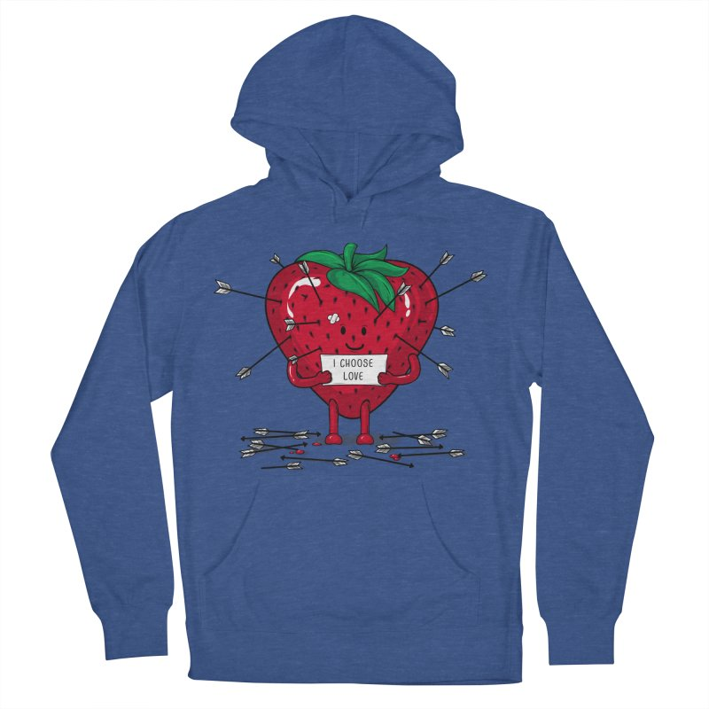 Strawberry Love Women's Pullover Hoody by GED WORKS