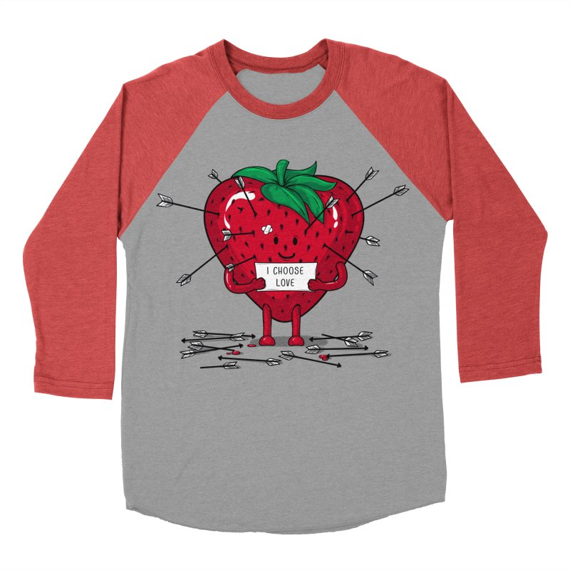 Strawberry Love Men's Longsleeve T-Shirt by GED WORKS