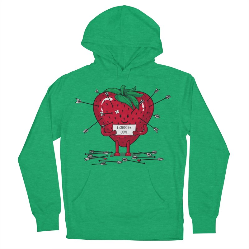 Strawberry Love Men's Pullover Hoody by GED WORKS