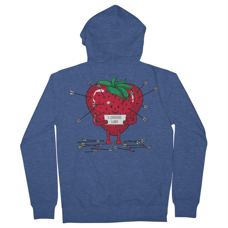 Strawberry Love Women's Zip-Up Hoody by GED WORKS