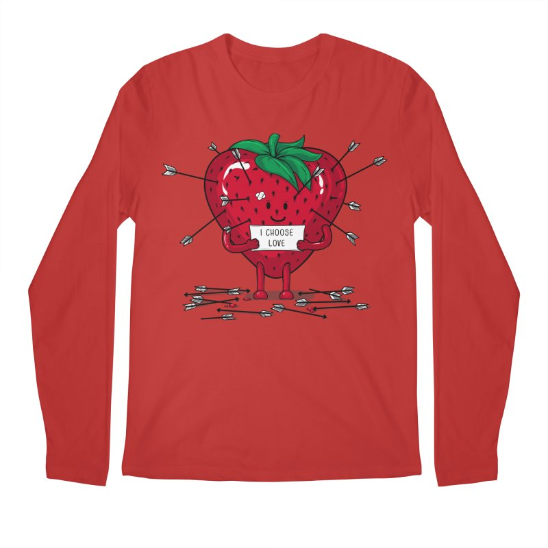 Strawberry Love Men's Regular Longsleeve T-Shirt by GED WORKS