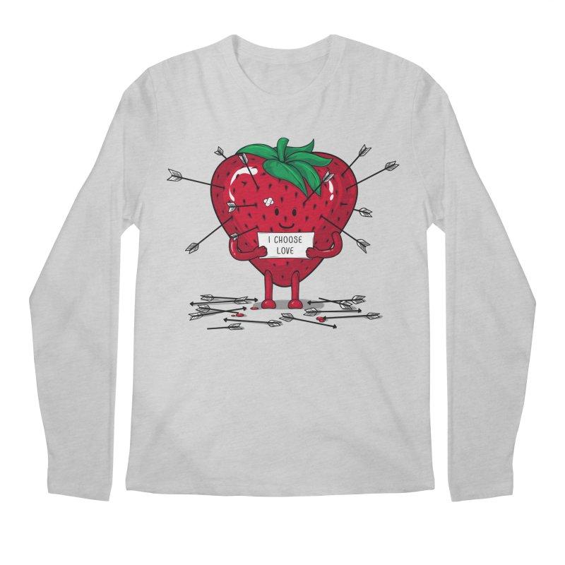 Strawberry Love Men's Regular Longsleeve T-Shirt by GED WORKS