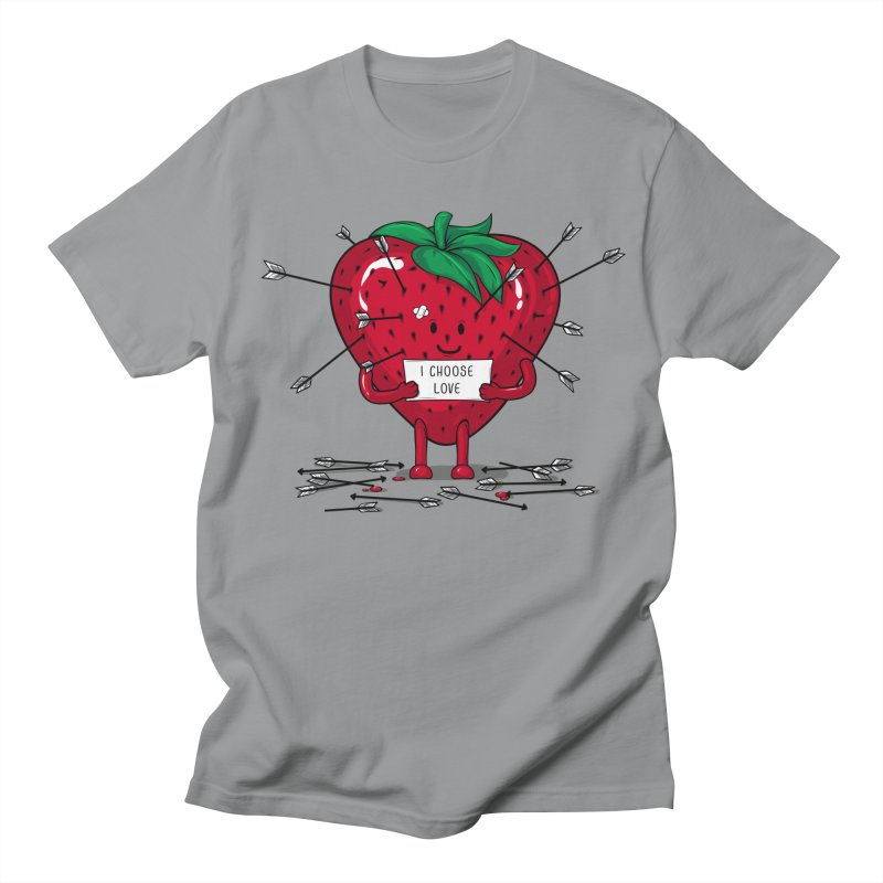 Strawberry Love Men's Regular T-Shirt by GED WORKS