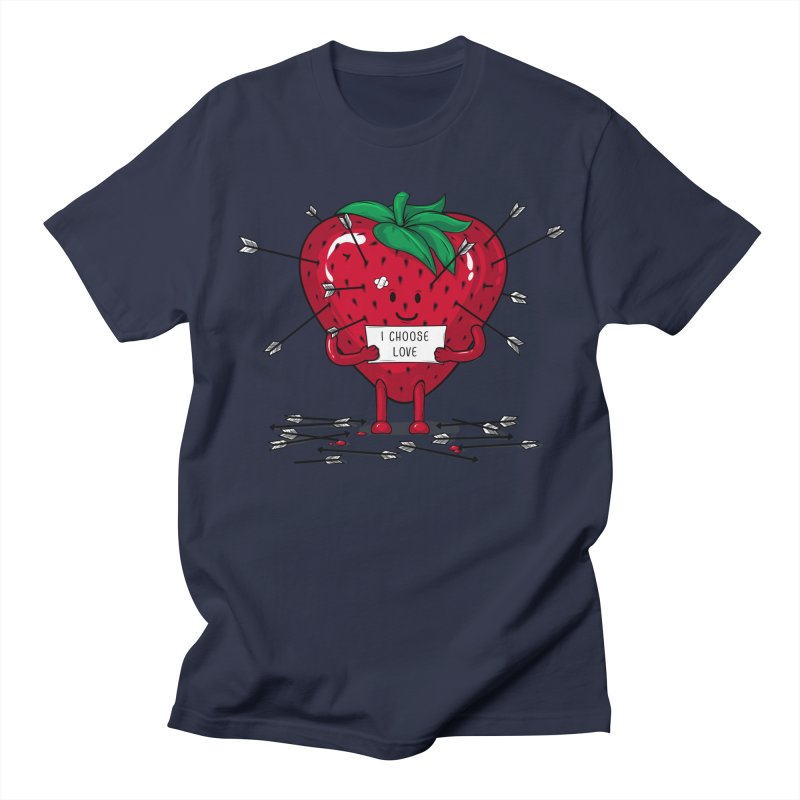 Strawberry Love Men's T-Shirt by GED WORKS