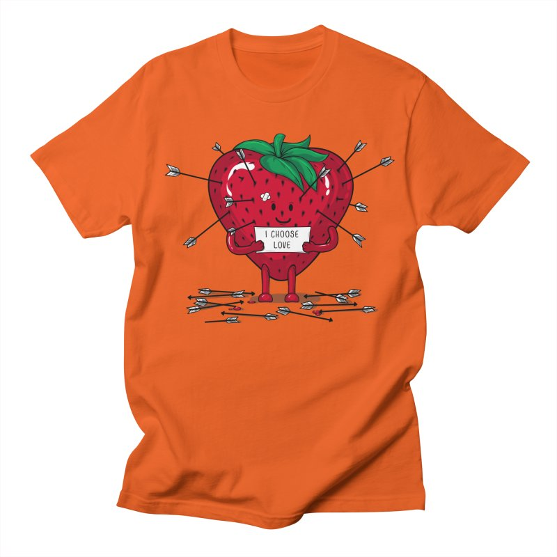 Strawberry Love Women's Unisex T-Shirt by GED WORKS