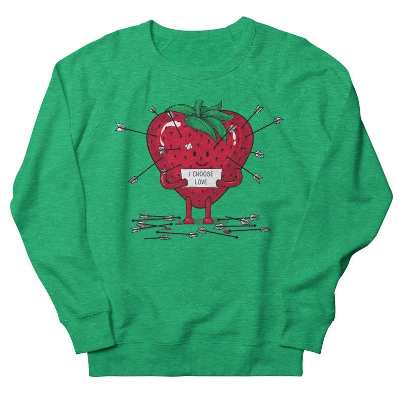 Strawberry Love Women's Sweatshirt by GED WORKS