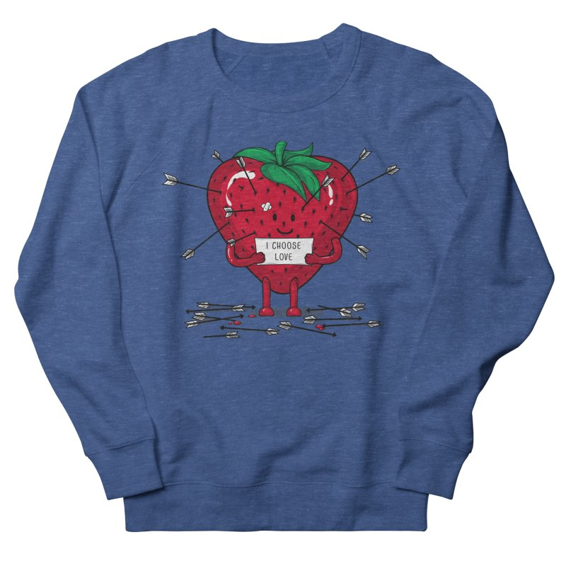 Strawberry Love Women's French Terry Sweatshirt by GED WORKS