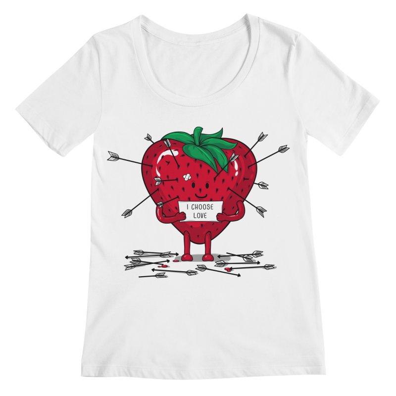 Strawberry Love Women's Regular Scoop Neck by GED WORKS