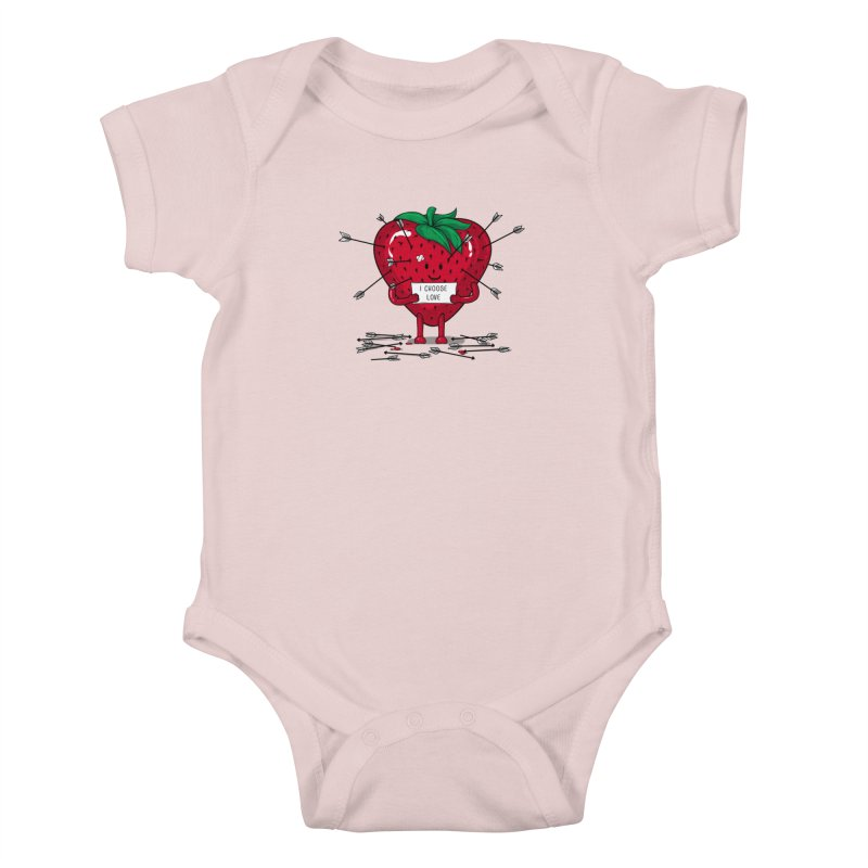 Strawberry Love Kids Baby Bodysuit by GED WORKS