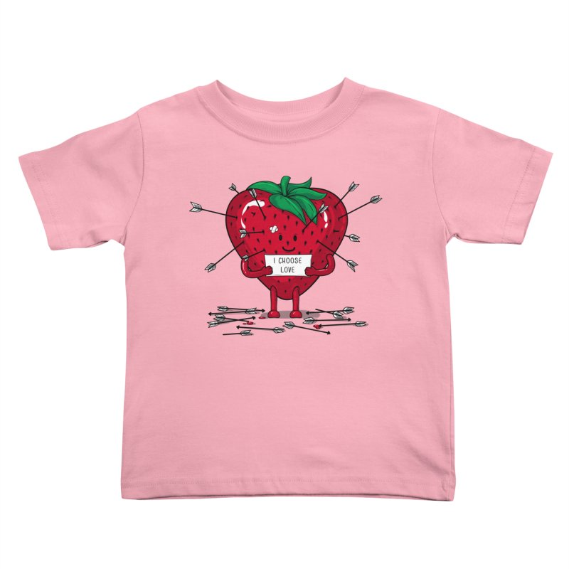 Strawberry Love Kids Toddler T-Shirt by GED WORKS