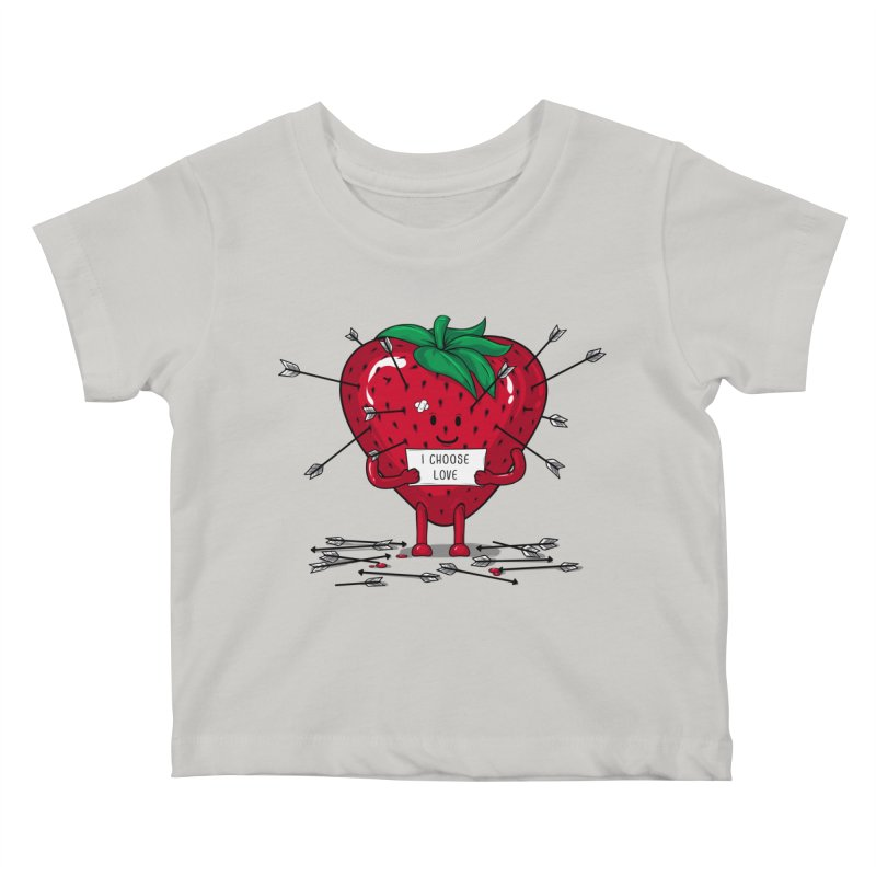 Strawberry Love Kids Baby T-Shirt by GED WORKS