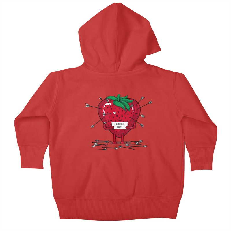 Strawberry Love Kids Baby Zip-Up Hoody by GED WORKS