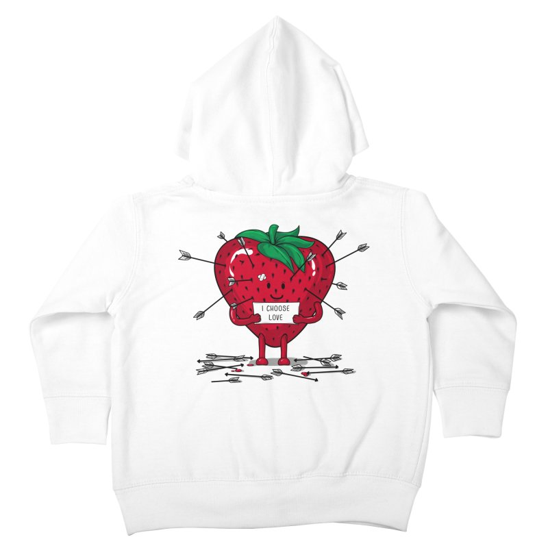Strawberry Love Kids Toddler Zip-Up Hoody by GED WORKS
