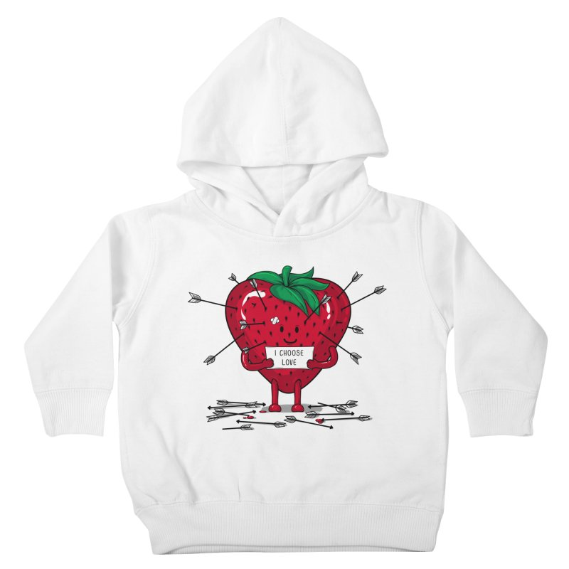 Strawberry Love Kids Toddler Pullover Hoody by GED WORKS