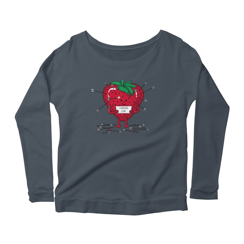 Strawberry Love Women's Longsleeve T-Shirt by GED WORKS