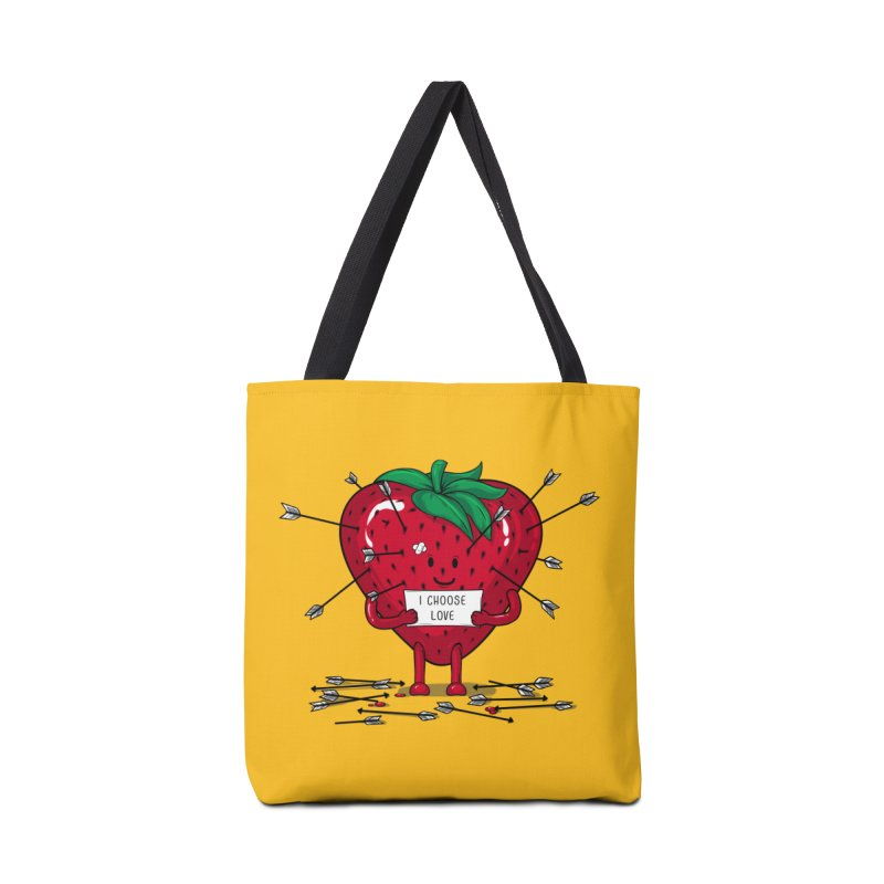 Strawberry Love Accessories Tote Bag Bag by GED WORKS