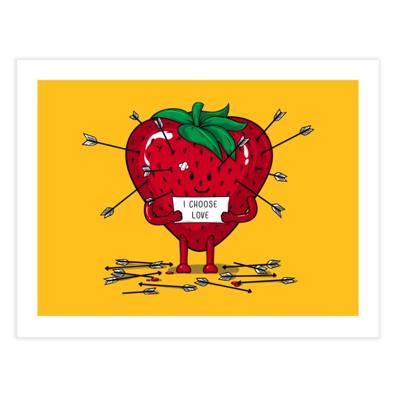 Strawberry Love Home Fine Art Print by GED WORKS
