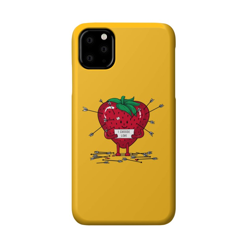 Strawberry Love Accessories Phone Case by GED WORKS