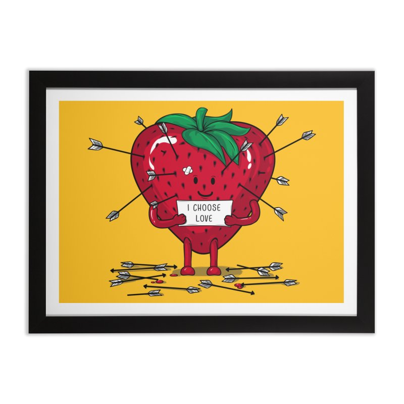 Strawberry Love Home Framed Fine Art Print by GED WORKS