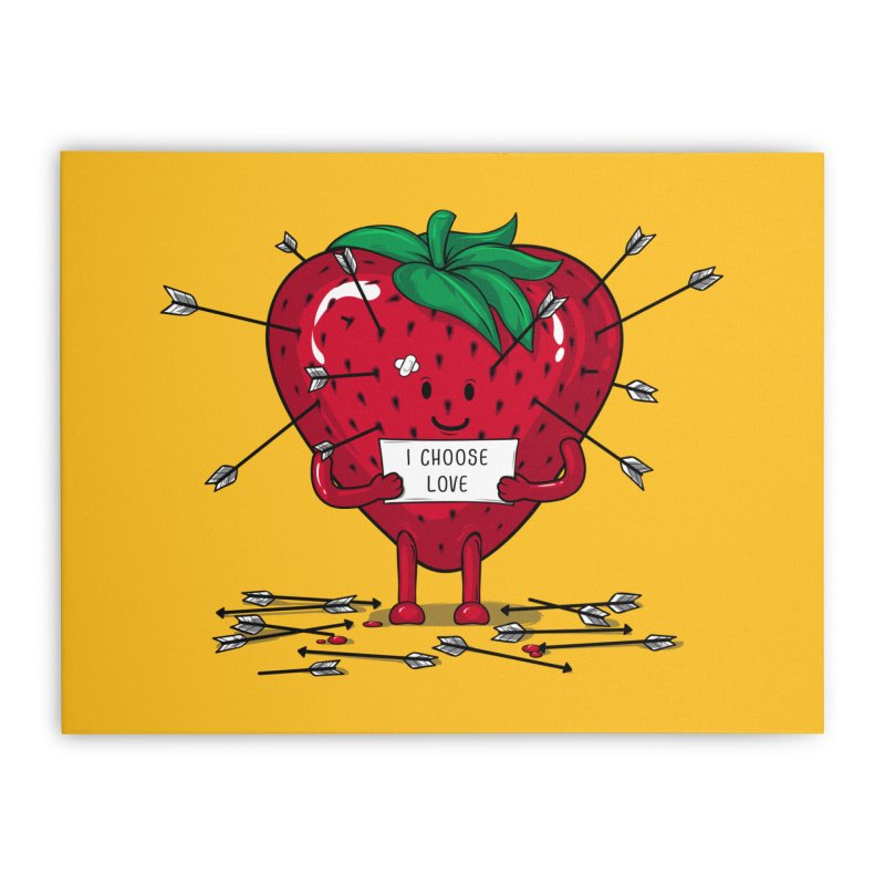 Strawberry Love Home Stretched Canvas by GED WORKS