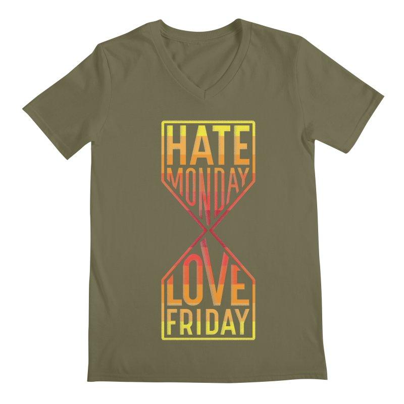 Hate Monday Love Friday Men's Regular V-Neck by GED WORKS