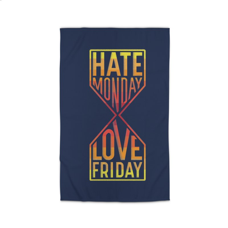 Hate Monday Love Friday Home Rug by GED WORKS