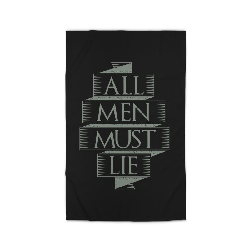 All Men Must Lie Home Rug by GED WORKS