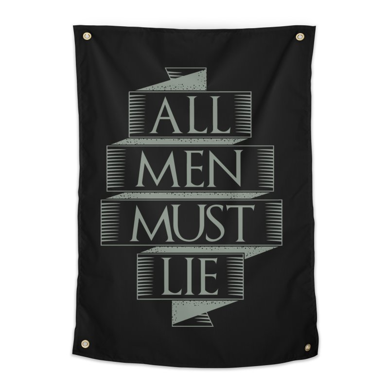All Men Must Lie Home Tapestry by GED WORKS