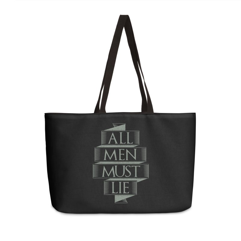 All Men Must Lie Accessories Bag by GED WORKS
