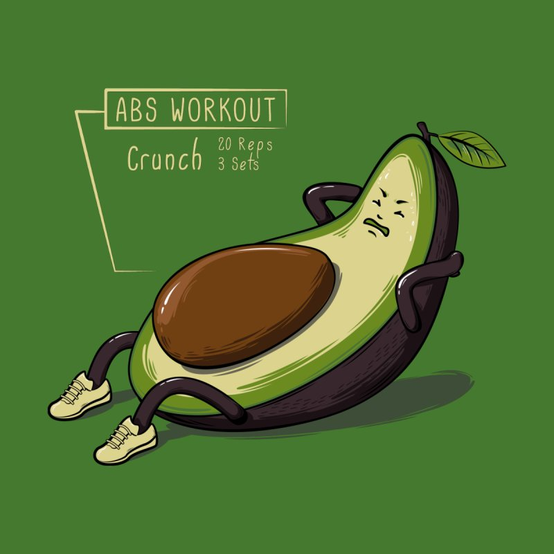 AVOCADO CORE WORKOUT Kids Baby Bodysuit by GED WORKS