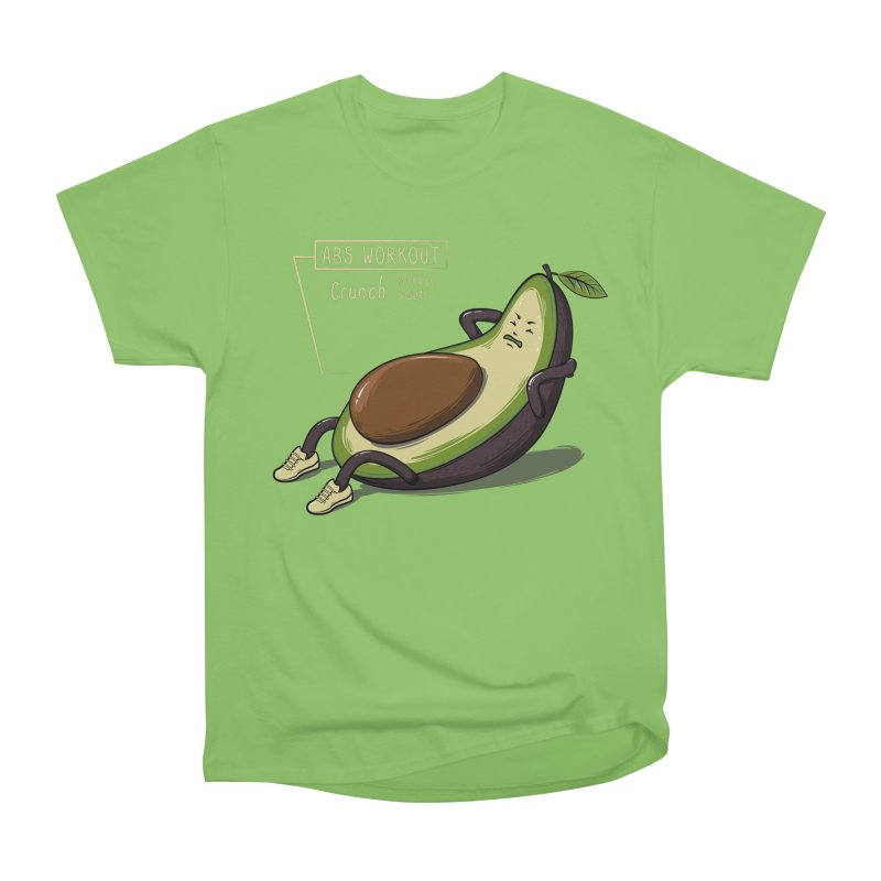 AVOCADO CORE WORKOUT Women's Heavyweight Unisex T-Shirt by GED WORKS