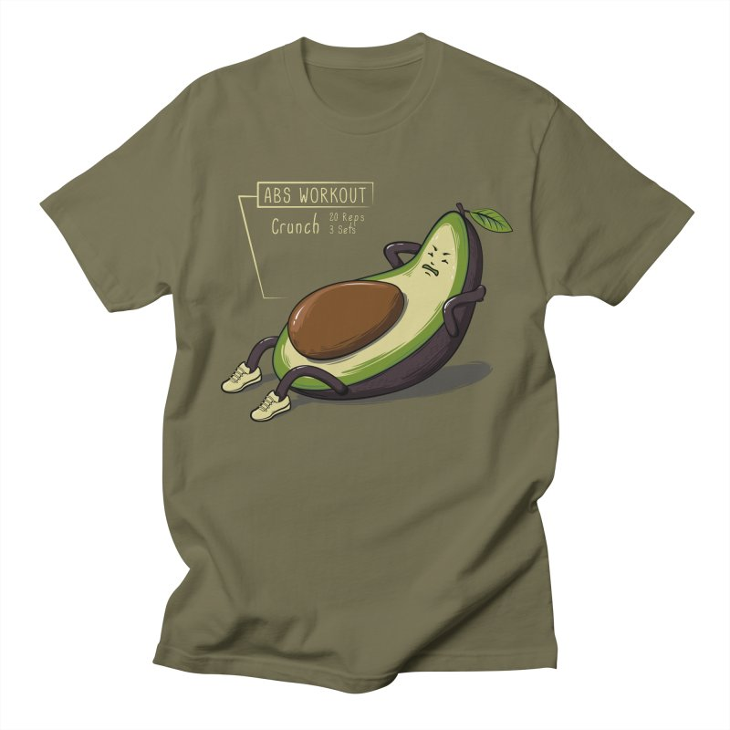 AVOCADO CORE WORKOUT Men's Regular T-Shirt by GED WORKS