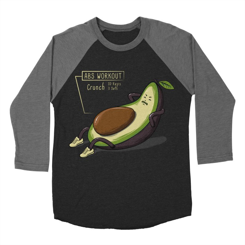 AVOCADO CORE WORKOUT Women's Baseball Triblend T-Shirt by GED WORKS
