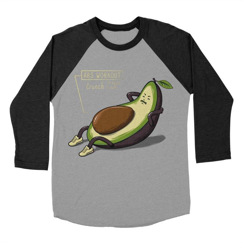AVOCADO CORE WORKOUT Men's Baseball Triblend Longsleeve T-Shirt by GED WORKS