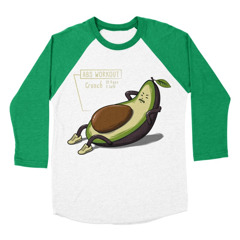 AVOCADO CORE WORKOUT Men's Baseball Triblend T-Shirt by GED WORKS