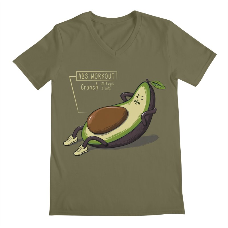 AVOCADO CORE WORKOUT Men's Regular V-Neck by GED WORKS