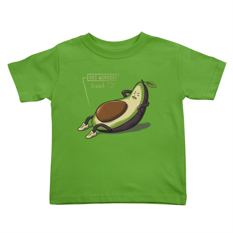 AVOCADO CORE WORKOUT Kids Toddler T-Shirt by GED WORKS