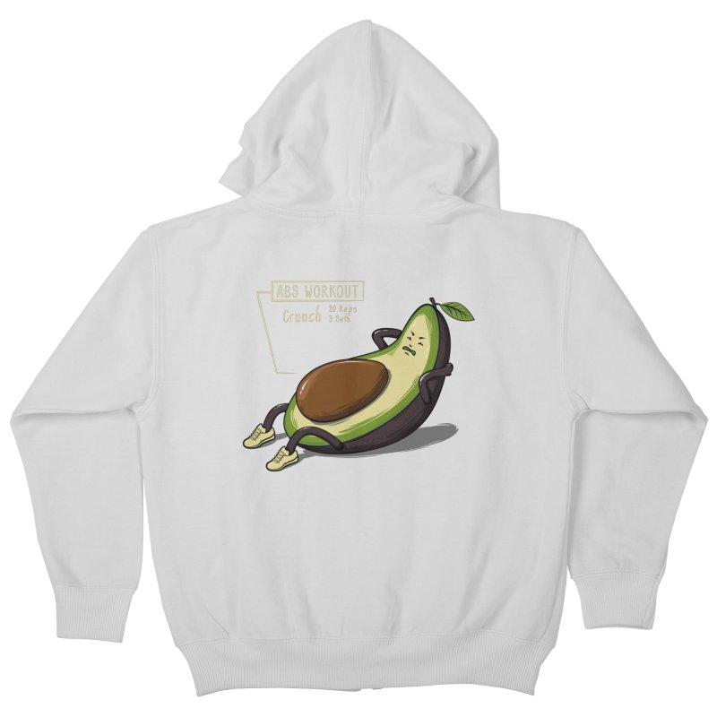 AVOCADO CORE WORKOUT Kids Zip-Up Hoody by GED WORKS