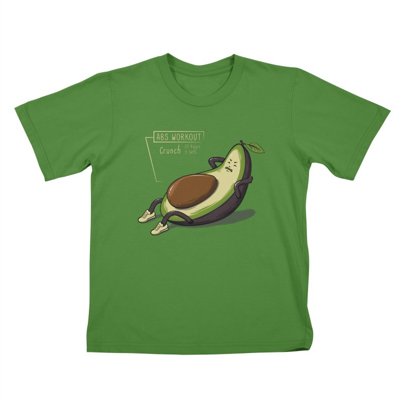 AVOCADO CORE WORKOUT Kids T-Shirt by GED WORKS