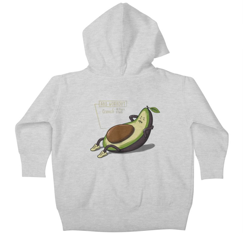 AVOCADO CORE WORKOUT Kids Baby Zip-Up Hoody by GED WORKS