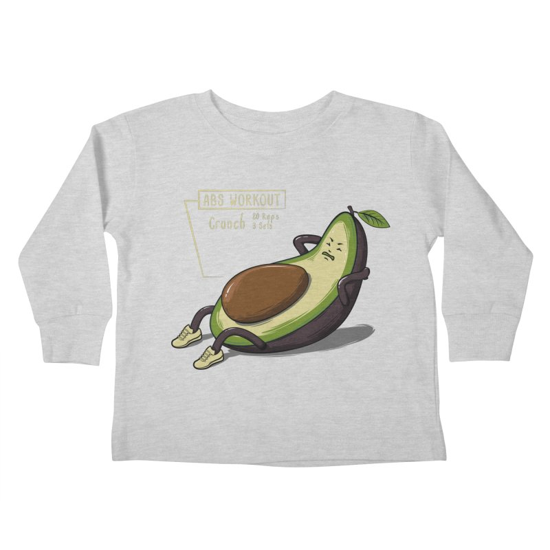AVOCADO CORE WORKOUT Kids Toddler Longsleeve T-Shirt by GED WORKS