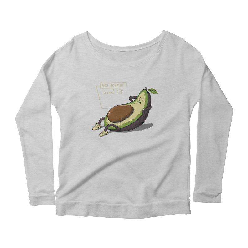 AVOCADO CORE WORKOUT Women's Scoop Neck Longsleeve T-Shirt by GED WORKS