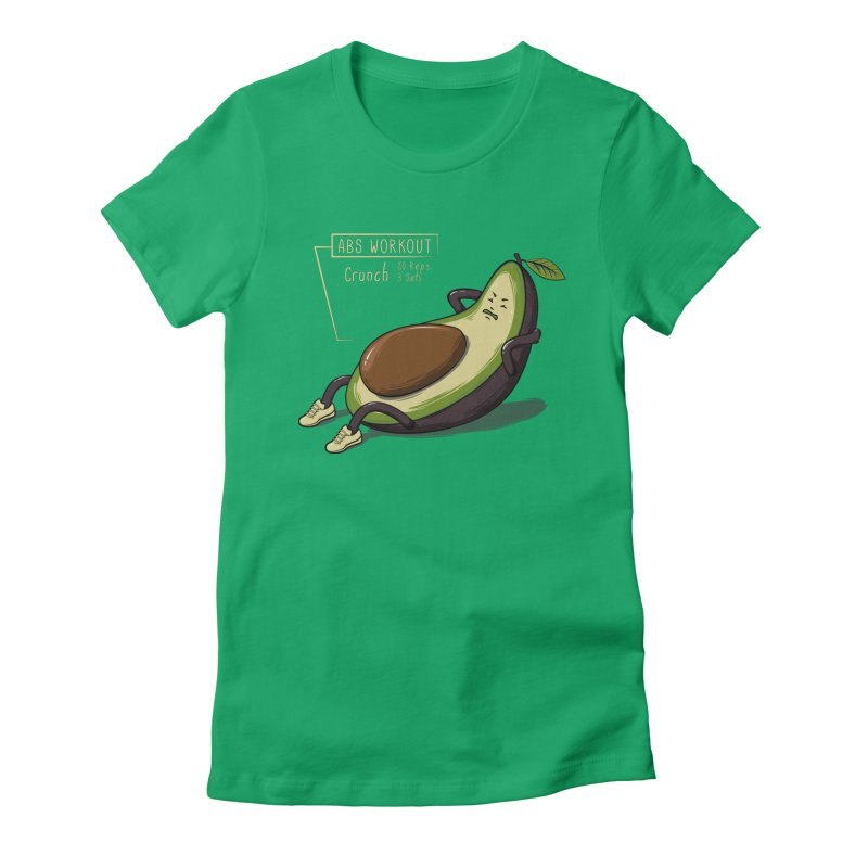 AVOCADO CORE WORKOUT Women's Fitted T-Shirt by GED WORKS