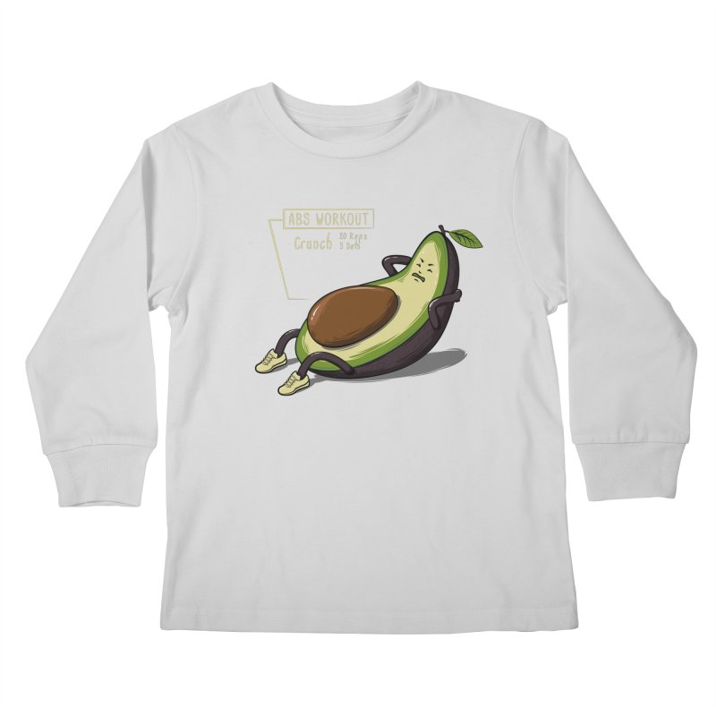AVOCADO CORE WORKOUT Kids Longsleeve T-Shirt by GED WORKS