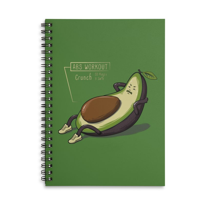 AVOCADO CORE WORKOUT Accessories Lined Spiral Notebook by GED WORKS