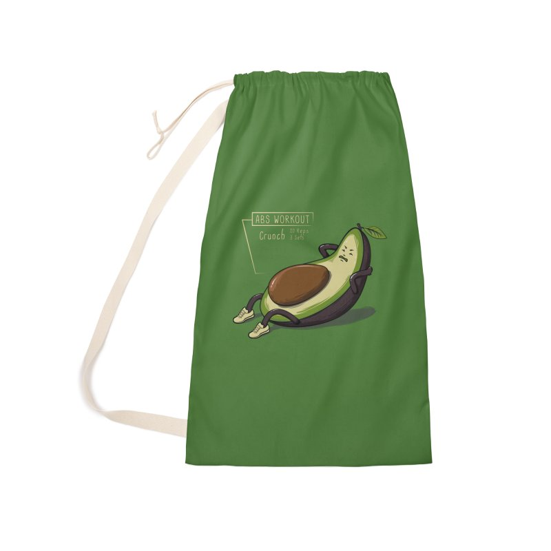 AVOCADO CORE WORKOUT Accessories Laundry Bag Bag by GED WORKS