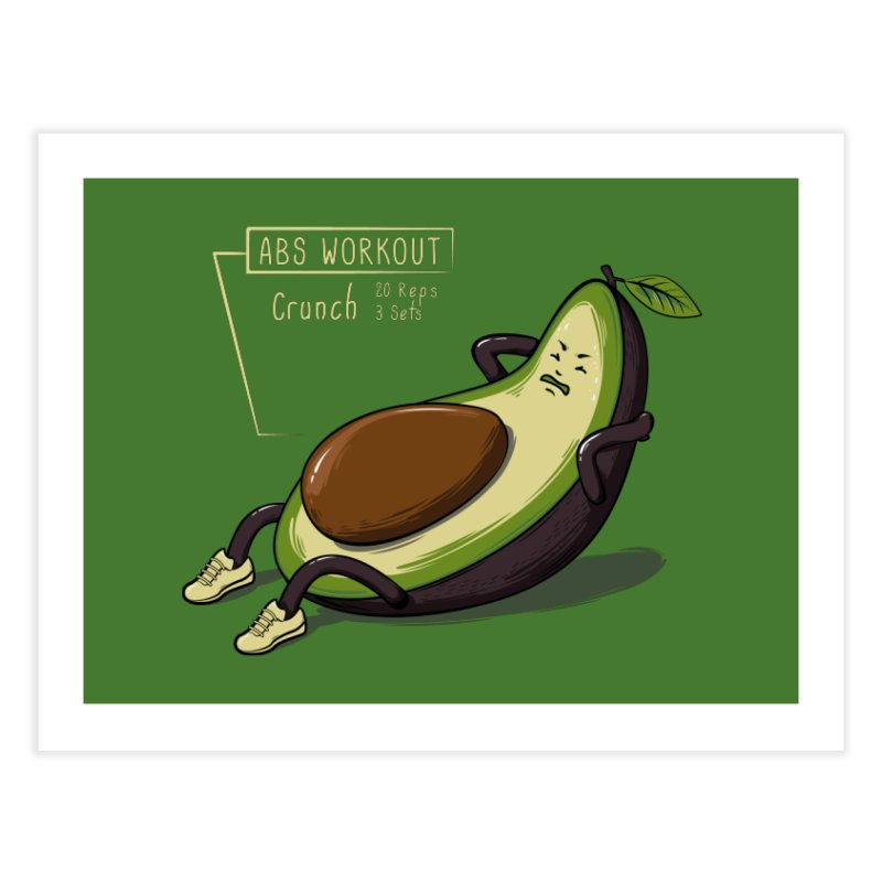 AVOCADO CORE WORKOUT Home Fine Art Print by GED WORKS