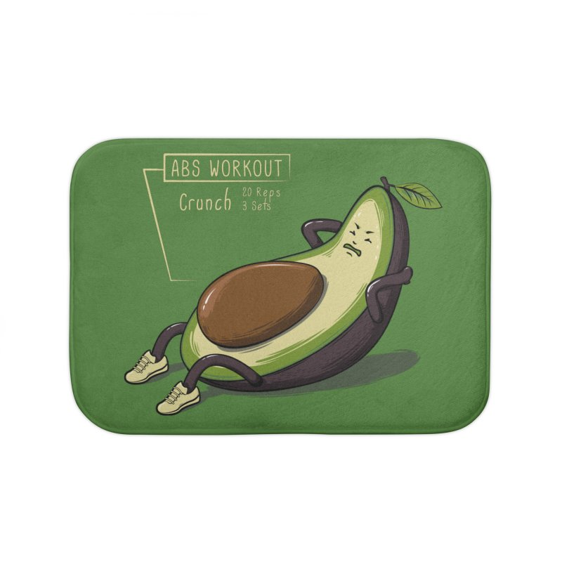 AVOCADO CORE WORKOUT Home Bath Mat by GED WORKS